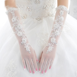 Ericdress Beautiful Flowers Long Wedding Gloves