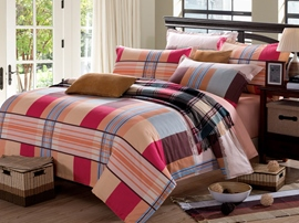 Ericdress Korean Simple Plaid 4-Piece Cotton Bedding Sets