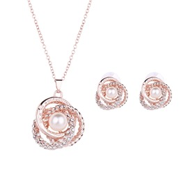 Ericdress Twisted Pearl Jewelry Set