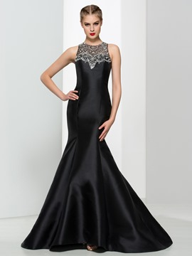 Ericdress Mermaid Scoop Neck Beading Sequins Elegant Evening Dress
