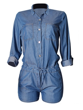 Ericdress Short Denim Jumpsuits Pants