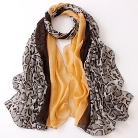 Ericdress Leopard Print Cotton Scarf