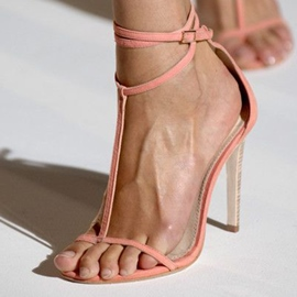 Ericdress Concise T Strap Stiletto Sandals