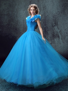 Ericdress Dramatic Pick-Ups Appliques Lace-Up Ball Gown Quinceanera Dress