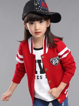 Ericdress Color Block Girls Coat