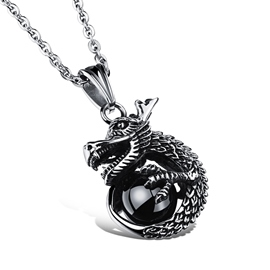 Punk Dragon Pendant Men's Necklace