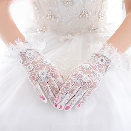 Ericdress Short Lace Bridal Gloves