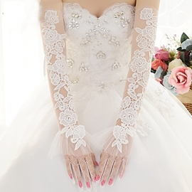 Ericdress Long Lace Wedding Gloves