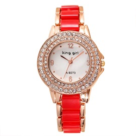 Ericdress Korean Diamante Scale Ladies Watch
