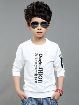 Ericdress Letter Print Long Sleeve Boys T-Shirt