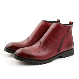 Ericdress Carve Solid Color Men's Boots