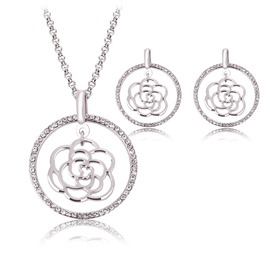 Ericdress Hollow Rose Jewelry Set