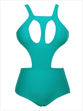 Ericdress Green Hollow Monokini