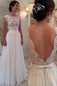 Ericdress Charming Jewel Lace A Line Wedding Dress