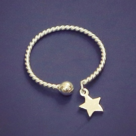 Ericdress Braided Star Open Ring