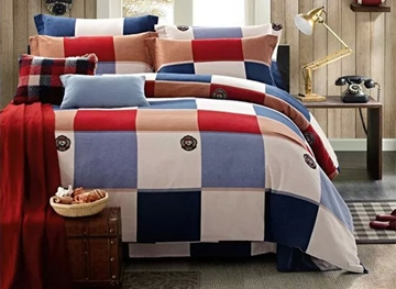 Ericdress Plaid Checked Charm Cotton Bedding Sets