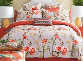 Ericdress Peony Blossom Cotton Bedding Sets