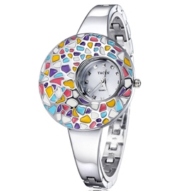 Ericdress Colorful Painting Epoxy Wrist Watch For Women