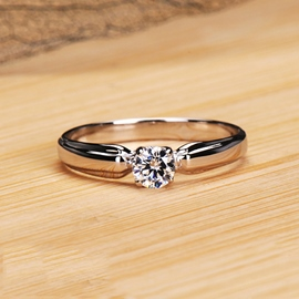 Ericdress High Quality Round Cut NSCD Diamond Ring for Wedding