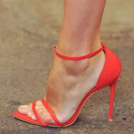Ericdress Simple Red Stiletto Sandals