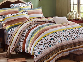 Ericdress Vogue Leopard Stripe Cotton Bedding Sets