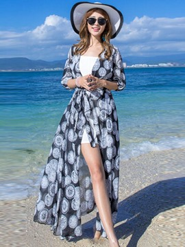 Ericdress Elegant Long Style Print Sunscreen Outerwear