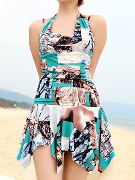 Ericdress Iregular Printed Swimwear