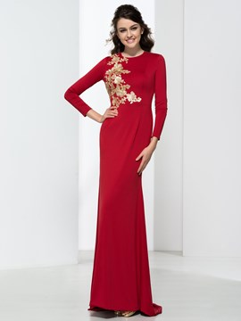 Ericdress Sheath Long Sleeves Backless Sequins Evening Dress