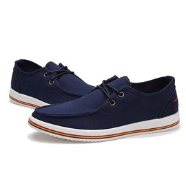 Ericdress Simple Lace up Men's Canvas Shoes