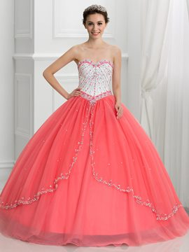 Ericdress Sweetheart Perlen Pailletten Ball Gown Quinceanera Kleid mit Jacke