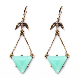 Ericdress Lovely Triangle Pendant Earrings