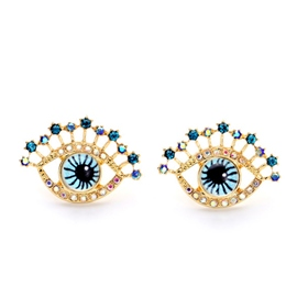 Ericdress Simple Eyes Shape Stud Earrings