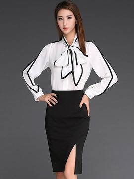 Ericdress Color Block Slim Bodycon Suits
