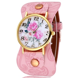 Ericdress Noble Peony Dial Ladies Watch