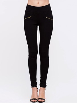 Ericdress Slim Skinny Zipper Leggings Pants