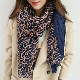 Ericdress Hollow Bird Nest Cotton Scarf