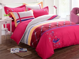 Ericdress Mandarin Duck Embroidery Cotton Bedding Sets