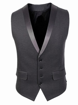 Ericdress Patched Slim Vogue Men's Vest