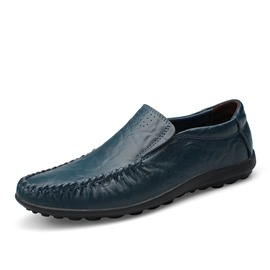 Ericdress Solid Color Low Cut Men's Moccasin-Gommino