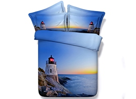 Ericdress Tower At Sea Island Print Bedding Sets