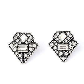 Ericdress Vintage Diamante Stud Earrings