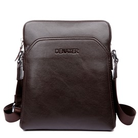 Ericdress Solid Color Nubuck Leather Shoulder Bag For Men