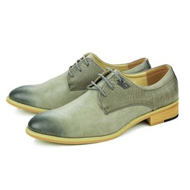 Ericdress Pointed Toe Square Heel Cross Strap Men's Oxfords