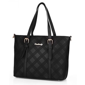 Ericdress Plaid Thread Decorated Tote Bag