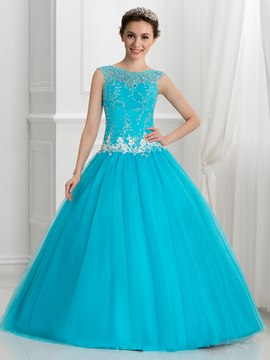 Ericdress Glamorous Appliques Sequins Ball Gown Quinceanera Dress