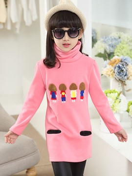 Ericdress Cartoon Long Girls Hoodie