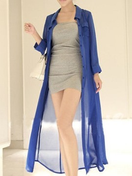 Ericdress Plain Long Style Sunscreen Outerwear