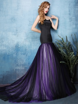 Ericdress Vintage Sweetheart Mermaid Draped Court Train Evening Dress