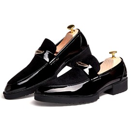 Ericdress Patent Leather Point Toe Men's Oxfords