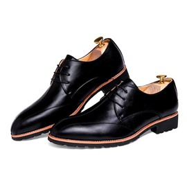 Ericdress Spring Pu Point Toe Men's Oxfords